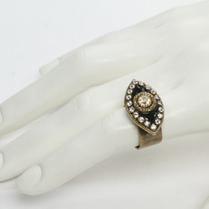 Michal Golan Evil Eye Evil Eye with Crystal Center Ring