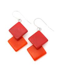 Orange Amelia Fiesta earrings from Encanto Jewelry