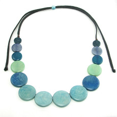 Encanto Semilla Blue Necklace Ashpa Aqua