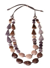 Encanto Jewellery Freya River Rock Brown Necklace
