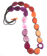 Red Encanto Jewelry Kaleidoscope Sunset Necklace