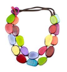 Encanto Multicolor Kaleidoscope Rainbow Necklace