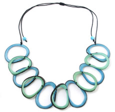 Encanto Jewellery Loops Aqua Necklace