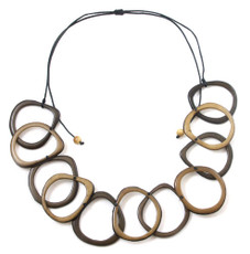 Brown Encanto Jewelry Loops Classic Necklace