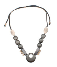 Black Safia Classic necklace from Encanto Jewelry