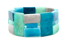 Encanto Jewelry Link Aqua Bracelet
