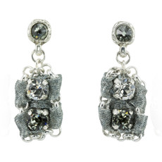 Silver Urban Chic  earrings from Anat Jewelry