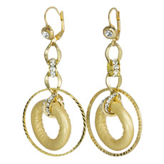 Gorgeous Gold Loop  earrings from Anat Jewelry