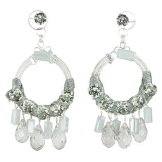 Anat Collection Silver Stone  Earrings