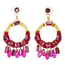Anat Collection Earrings Red and Gold