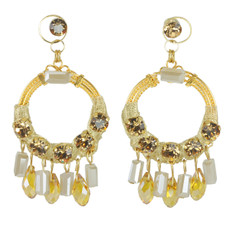 Anat Jewelry Gold Hoop Earrings