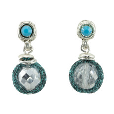 Anat Collection Blue Bead Nouveau Glam Earrings