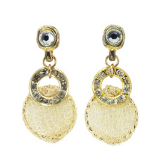 Anat Jewelry Natural Gold Eclectic Sterling Perfection Earrings