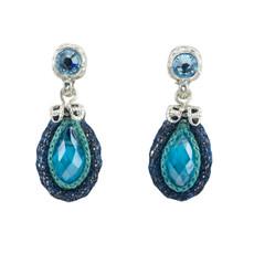 Blue Joy Nouveau Glam earrings from Anat Jewelry