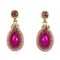 Anat Jewelry Pink Joy Nouveau Glam Earrings