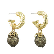 Anat Jewelry Bronze Pearl Earrings