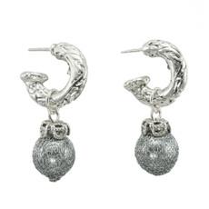 Anat Jewelry Grey Pearl Earrings