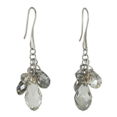 Anat Collection Earrings Silver Tear Drops Nouveau Glam