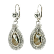 Silver Crystal Nouveau Glam earrings from Anat Jewelry