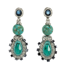 Anat Collection Earrings Teal Nouveau Glam
