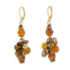 Anat Jewelry Brown Bunch Earrings