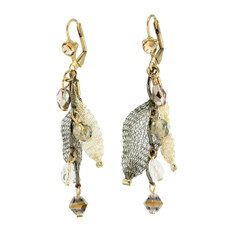 Gold Mystery Classic Opulence earrings from Anat Jewelry