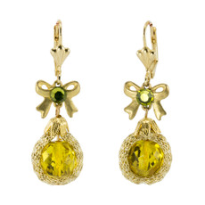 Anat Collection Earrings Yellow Bow Fashion Net