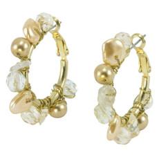 Anat Jewelry Gypsy Hoop  Gold Earrings