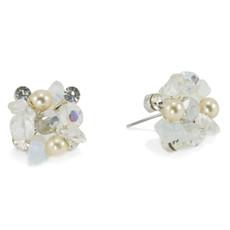 Anat Jewelry White  Earrings