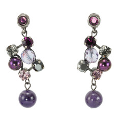 Purple Nouveau Glam earrings from Anat Jewelry