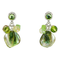 Anat Collection Earrings Green Post Paris Chic