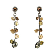 Brown Beauty Paris Chic  earrings from Anat Jewelry