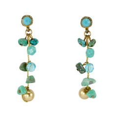 Anat Jewelry Teal   Earrings