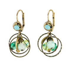 Anat Jewelry Encompass Green  Earrings