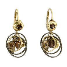 Anat Jewelry Encompass Bronze Earrings