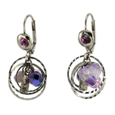 Anat Collection Encompass Purple  Earrings