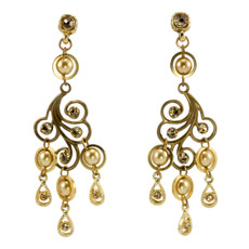 Anat Jewelry Chandelier Gold Earrings