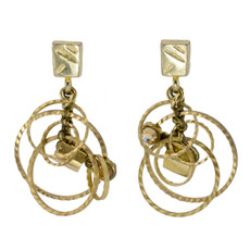 Gold Golden Circles  earrings from Anat Jewelry