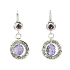 Anat Collection Elegant Purple Sterling Perfection Earrings