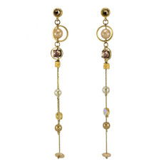 Anat Collection Earrings Peachy Gold Drop