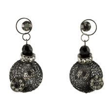Black Beautiful Mystery Sterling Perfection earrings from Anat Jewelry