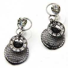 Anat Collection Earrings Black Night Sterling Perfection