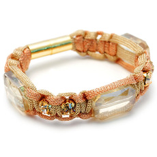 Anat Collection Gold  Bracelet  Square Shabby Chic