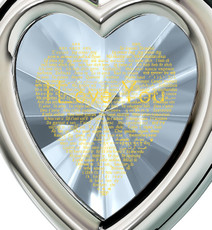 Clear Silver Framed Heart I Love You in 120 Languages necklace from Inspirational Jewelry