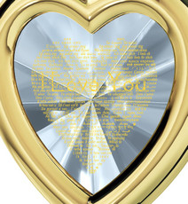 Inspirational Jewelry Gold Framed Heart I Love You in 120 Languages Necklace
