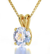 Inspirational Jewelry Gold Aquarius Opal Necklace