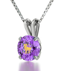 Violet Inspirational Jewelry Silver Aries Necklace