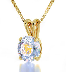 Opal Inspirational Jewelry Gold Aries Necklace