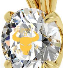 Inspirational Jewelry Necklace Gold Taurus