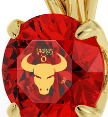 Gold Taurus necklace from Inspirational Jewelry